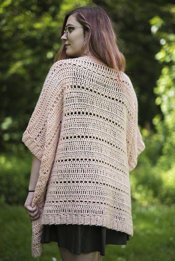 The Rosefinch Cardigan Crochet Pattern Lightweight Summer Cardigan