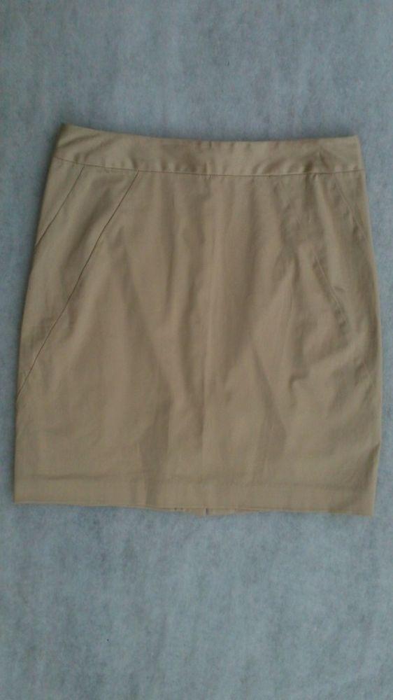 Bebe Angle Seamed Marilyn Pencil Skirt Khaki 8 $89 NWT #bebe #Pencil