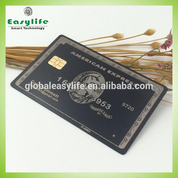 Custom American Express Centurion Metal Business Card With Chip Metal Business Cards American Express Centurion Personalized Items