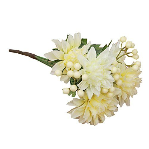 Artificial flowersgoodculler bouquet ivory dahlia fake silk flower artificial flowersgoodculler bouquet ivory dahlia fake silk flower fake flower wedding home decor bouquet white more info could be found at the image mightylinksfo