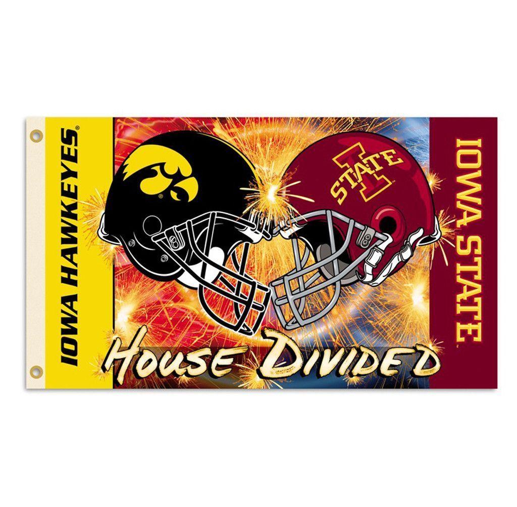 Iowa Hawkeyes Iowa State Cyclones Football Rivalry Flag Iowa