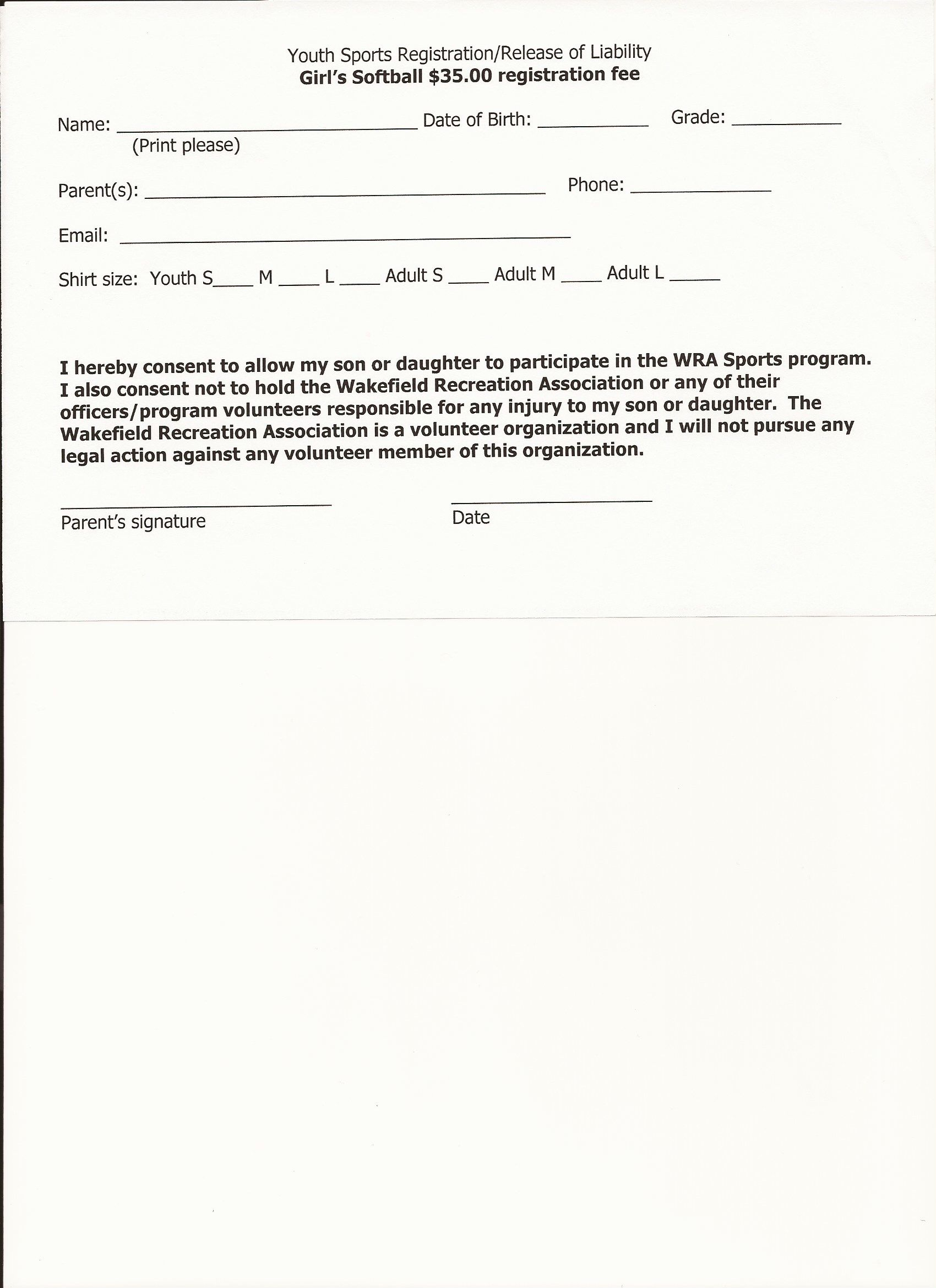 Printable Sample Liability Form Form Legal Forms Real Estate