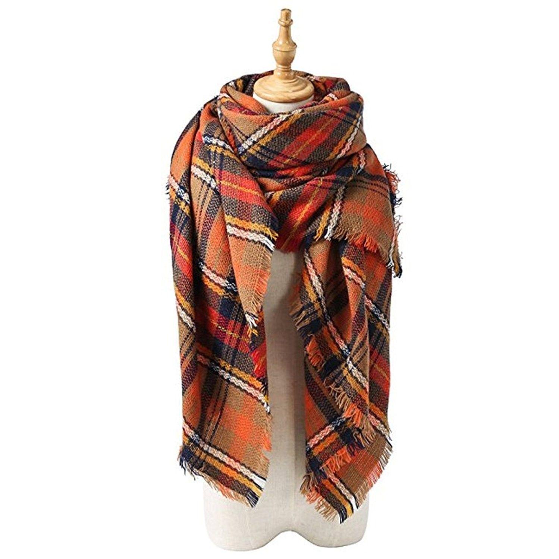 Soft Touch Plaid Tartan Check Ladies Winter Warm Scarf Shawls Stole Wrap Gift