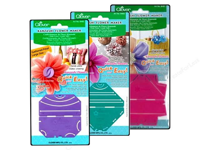 Clover Kanzashi Flower Maker | Flower, Fabric flowers and Crafty