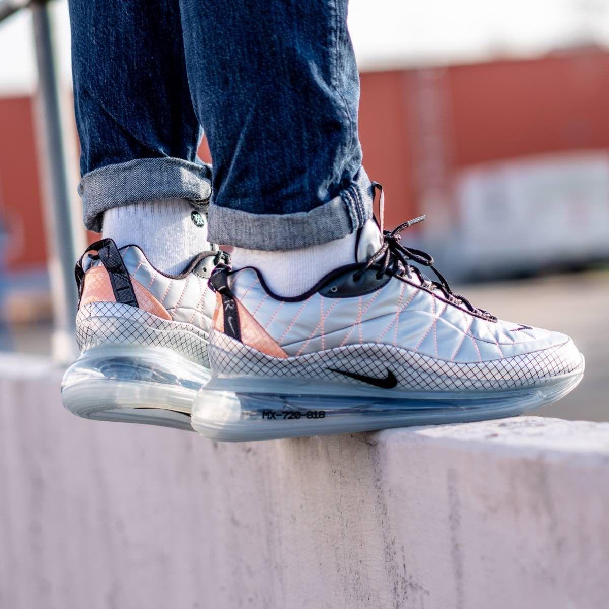 Nike Mx 720 818 Metallic Silver In 2020 Nike Sneakers Men Latest Sneakers