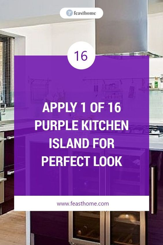 Well, which one is your favorite purple kitchen island? Even though it is not common, but as long as you can make it a good decoration, purple will look nice with your kitchen. #FeastHome #Kitchen #Island