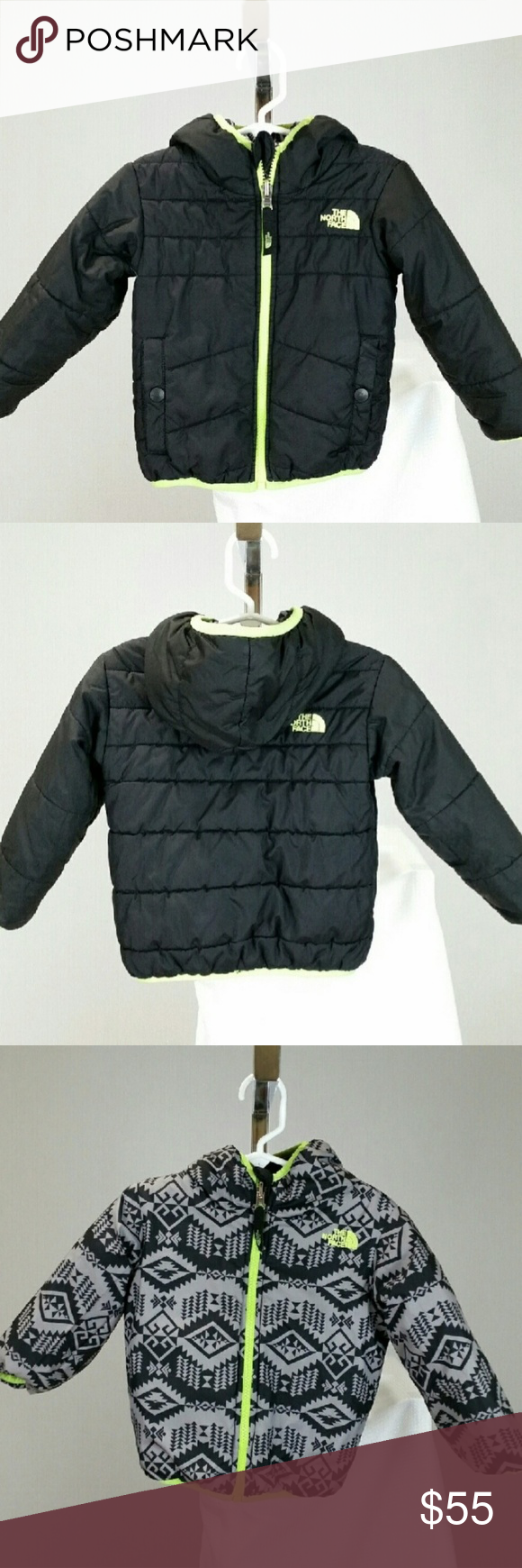 The North Face Toddler Reversible Jacket Boys 2t Boys Jacket Jackets Reversible Jackets [ 1740 x 580 Pixel ]