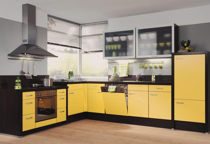 Küche in Gelb Eckküche www.dyk360kuechen.de Konyha