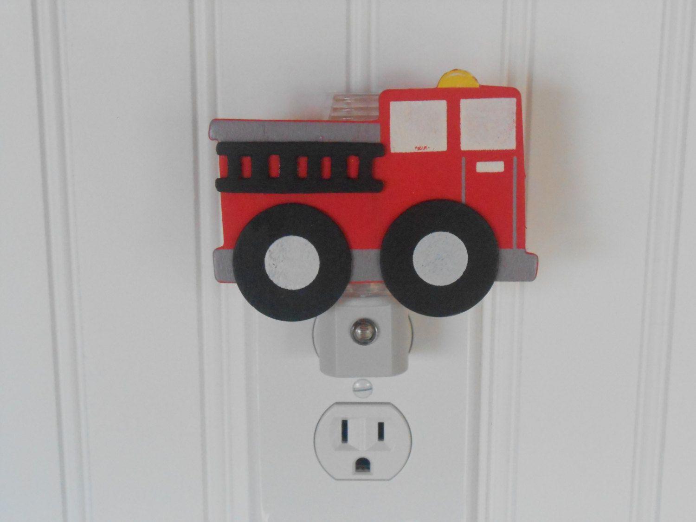 Night lights nursery - Fire Truck Night Light Night Lights Nursery Decor Fire Truck Nursery Night Light For Boys