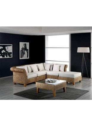 Sea Breeze 6 PC Set Deep Seating Group (R-R-M-M-OT-CT) in Natural ...