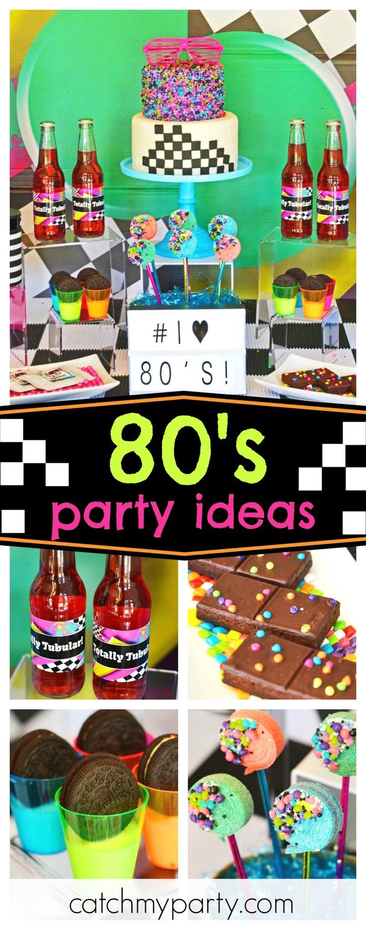 """80 Ideas For Contemporary Living Room Designs: 80s, Eighties, Decade, 1980s / Birthday """"Totally Tubular"""
