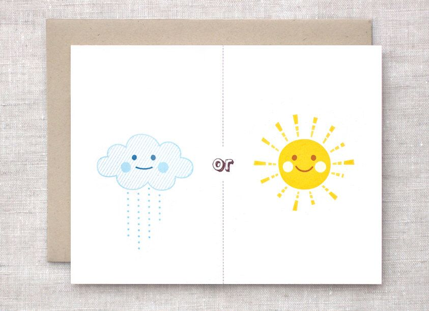 rain or shine anniversary card valentine card ill be there clouds - Etsy Valentines Cards