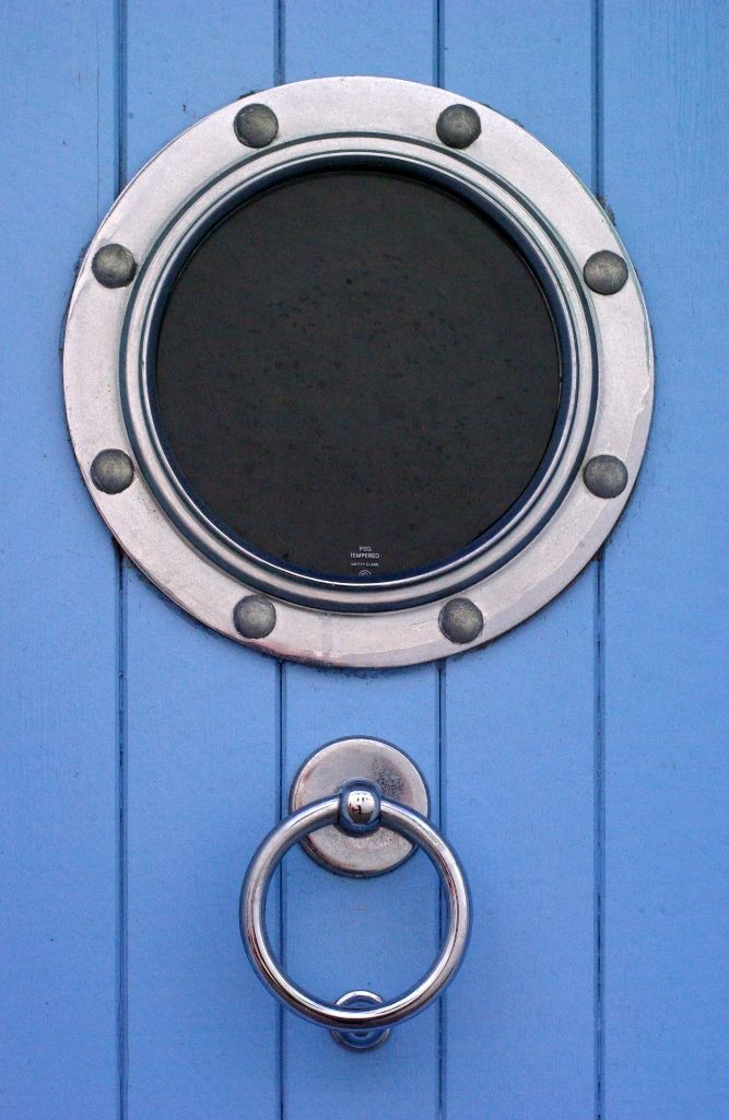 I made my own faux windows using stove burner trim rings ...