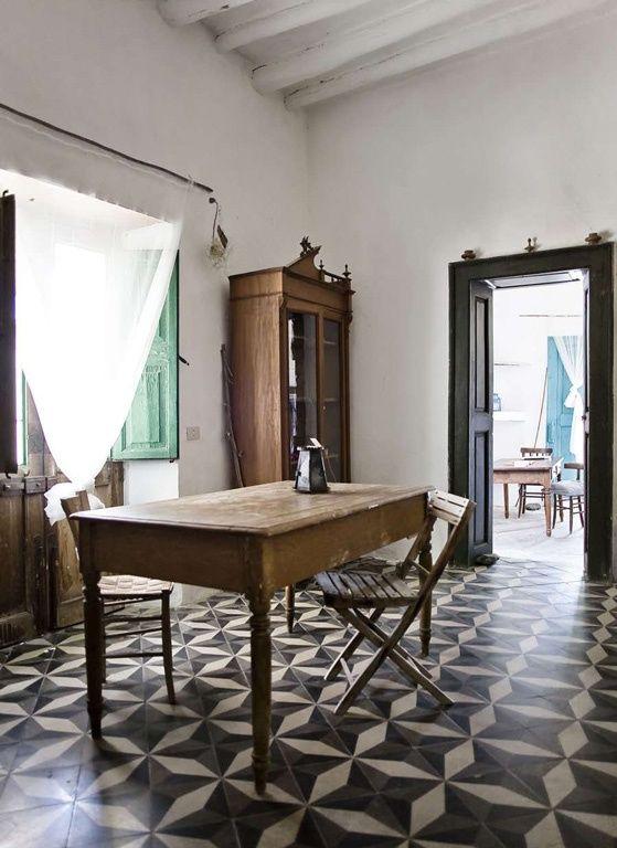 ceramic floors greek farm house