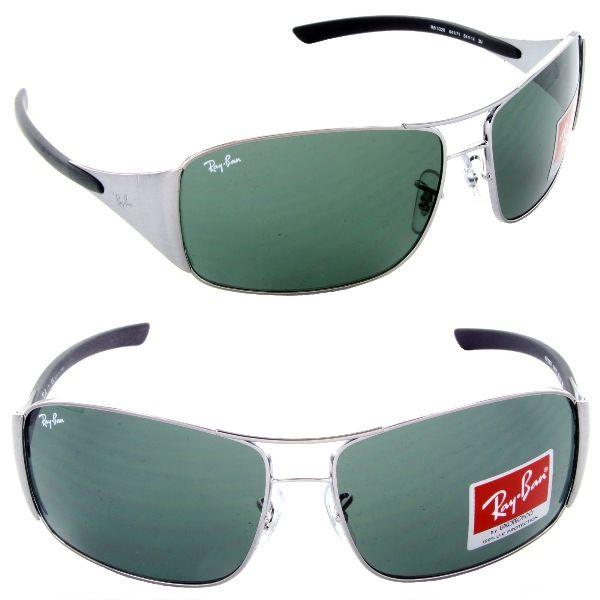 671aa7752c Ray-Ban RB 3320 041 71 Gunmetal   Green Ray Ban Sunglasses Sale