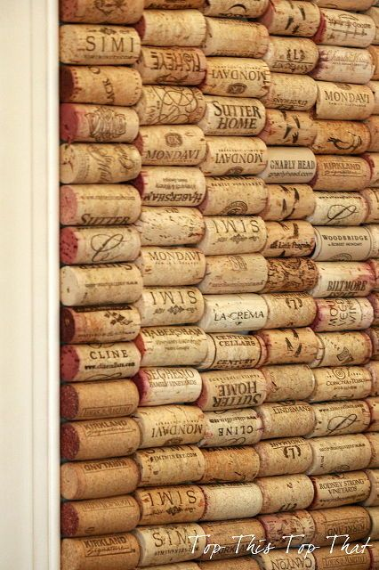 Diy Combination Chalk And Cork Board, Chalkboard Paint, Crafts, Chalkboard  Trimmed Out Surrounded By Wine Corks