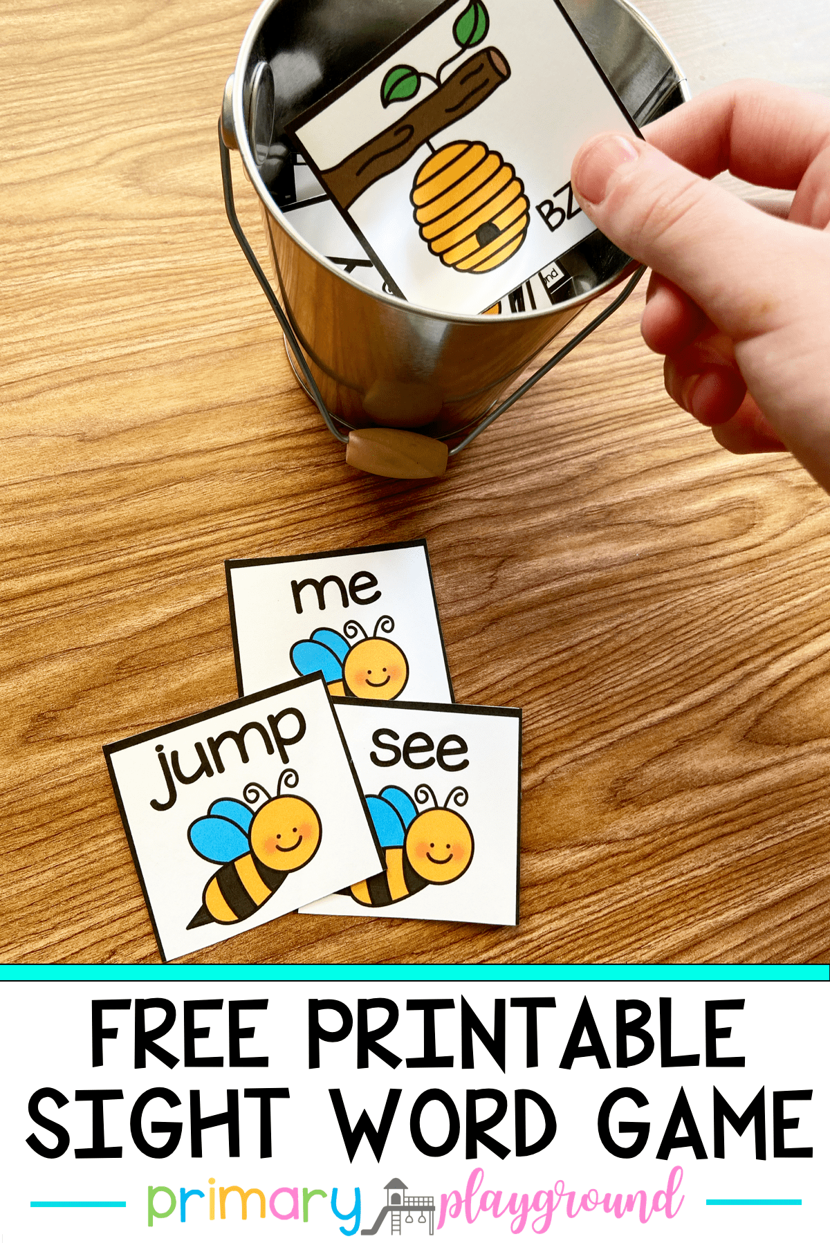 Honey Bee Sight Word Game in 2020 Sight word games, Word