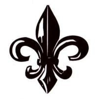 Large Fleur De Lis Mounted Rubber Stamp French Monarchy Symbol New