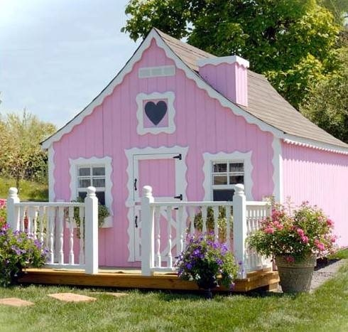 Gingerbread House Pink Too White Garden Sheds For Sale Beautiful Play Houses Build A Playhouse Little Cottage