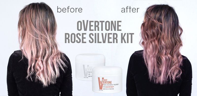 How To Get Rose Silver Hair With Color Conditioner Overtone Hair Color Conditioner Overtone Hair Dye