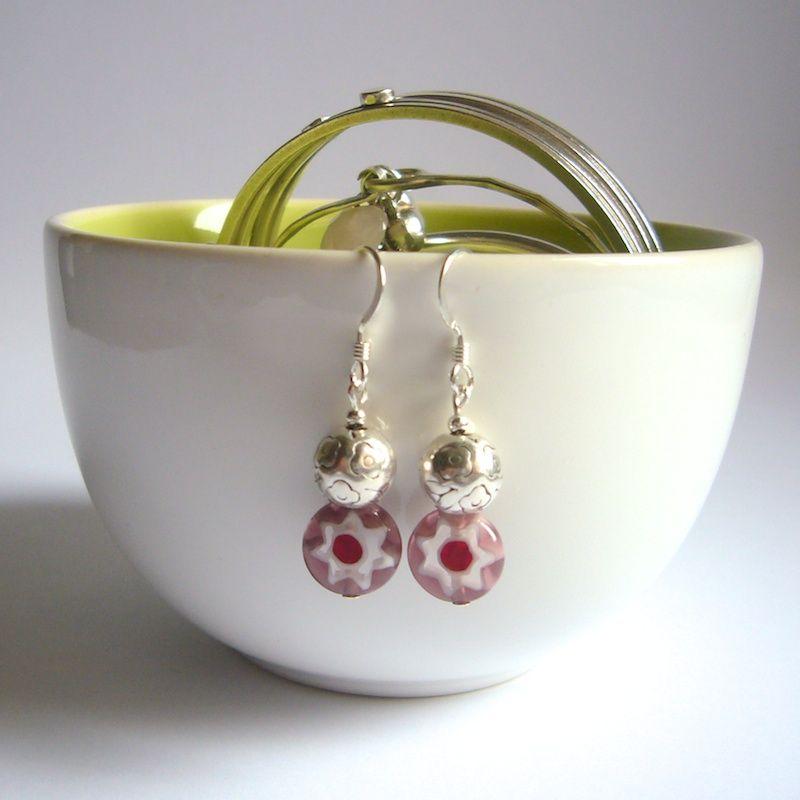 Lilac Millefiori Earrings