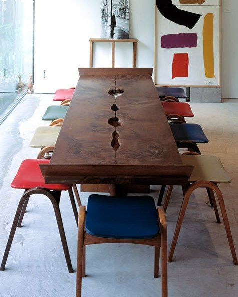 Eclectic Dining Room Tables: Savvy Seating: Colorful & Eclectic Chairs