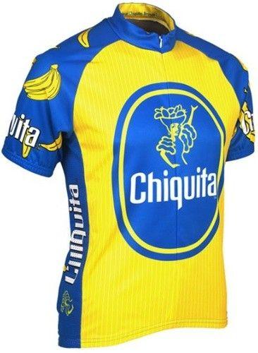 9c25a06df Chiquita Banana Men s Retro Art Poster Classic Cycling Short Sleeve Jersey