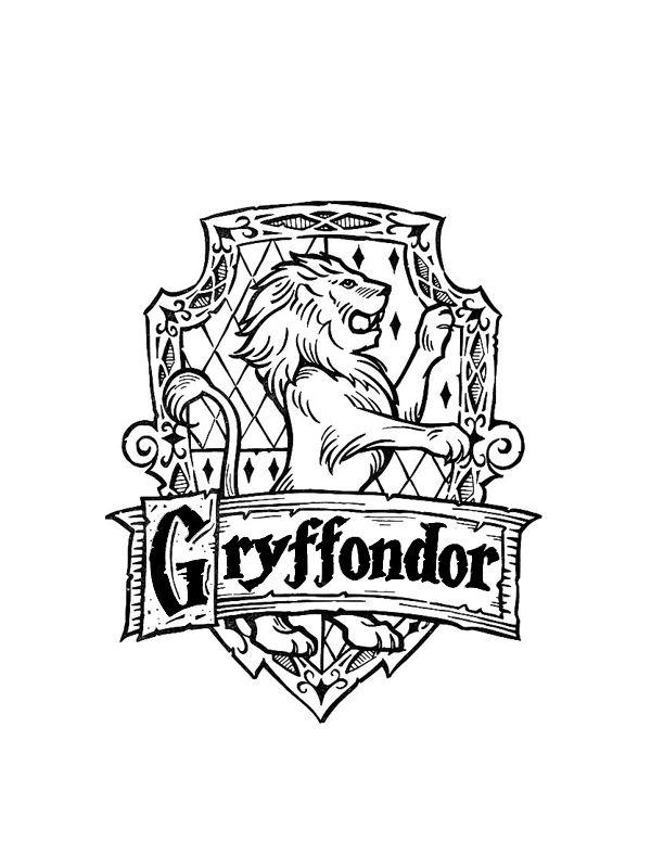 Coloriage Blason Gryffondor Coloriage Harry Potter Art Harry