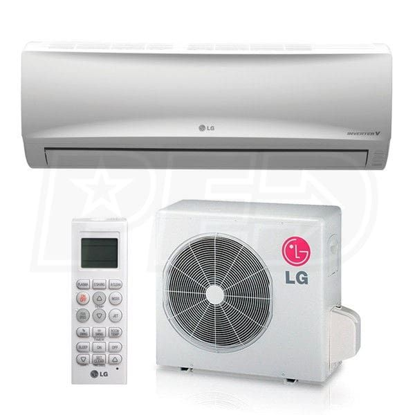 Lg Ls120hxv 12k Btu Cooling Heating Mega 115v Wall Mounted Air Conditioning System 17 0 Seer With Images Heat Pump System Heat Pump Heating And Cooling