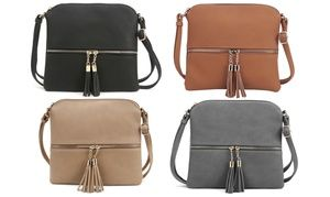 ee0ea47b18e4d3 MKII Women's Sadie Tassel Travel Vacation Crossbody Purse   Handbags ...