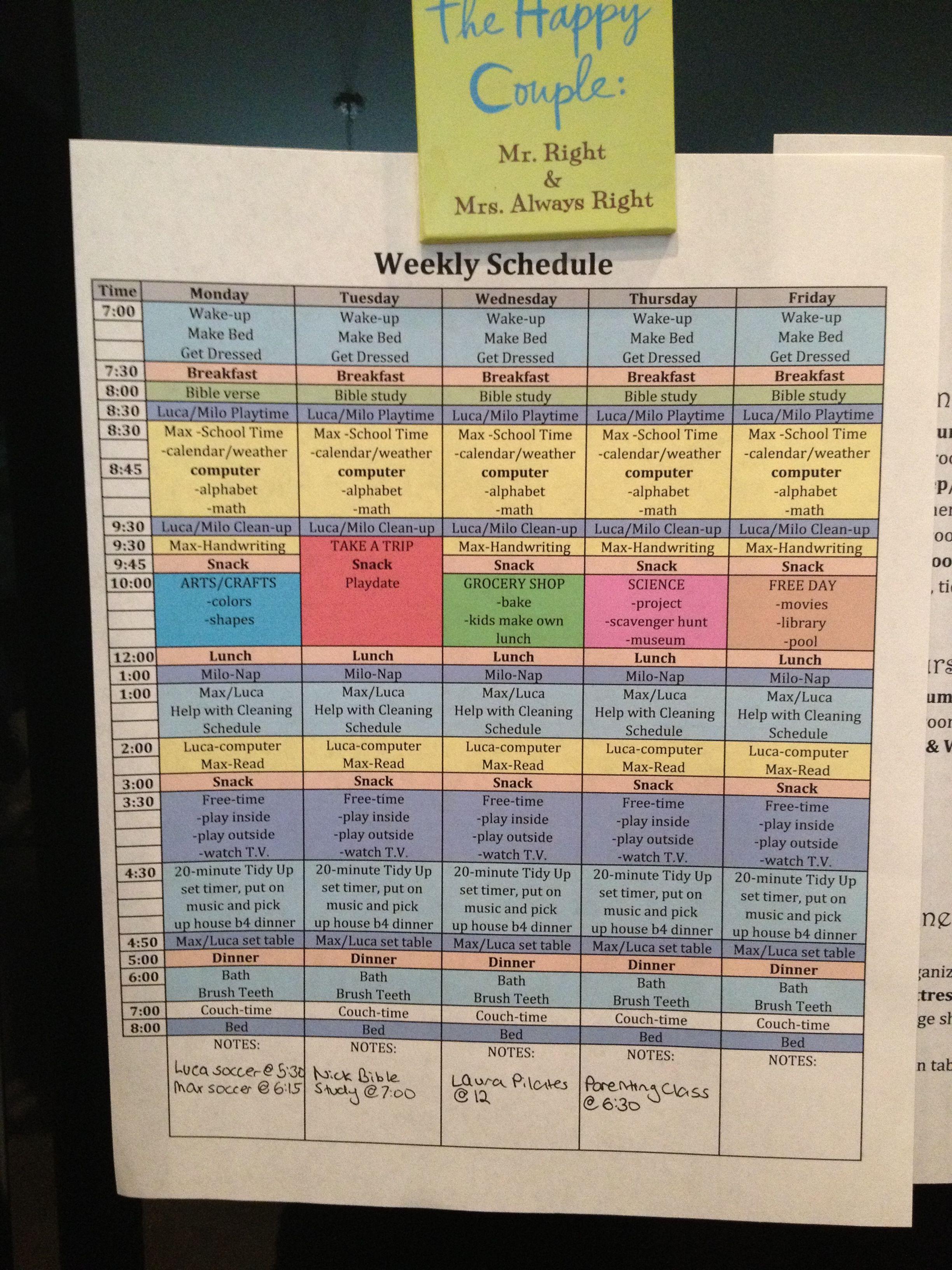 Pre K Homeschool Schedule Oldest In Pre K Plus Schedule