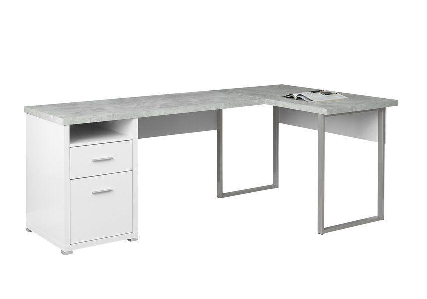 Darcio 2 Drawer L Shape Corner Desk L Shaped Corner Desk Office Desk Desk Redo