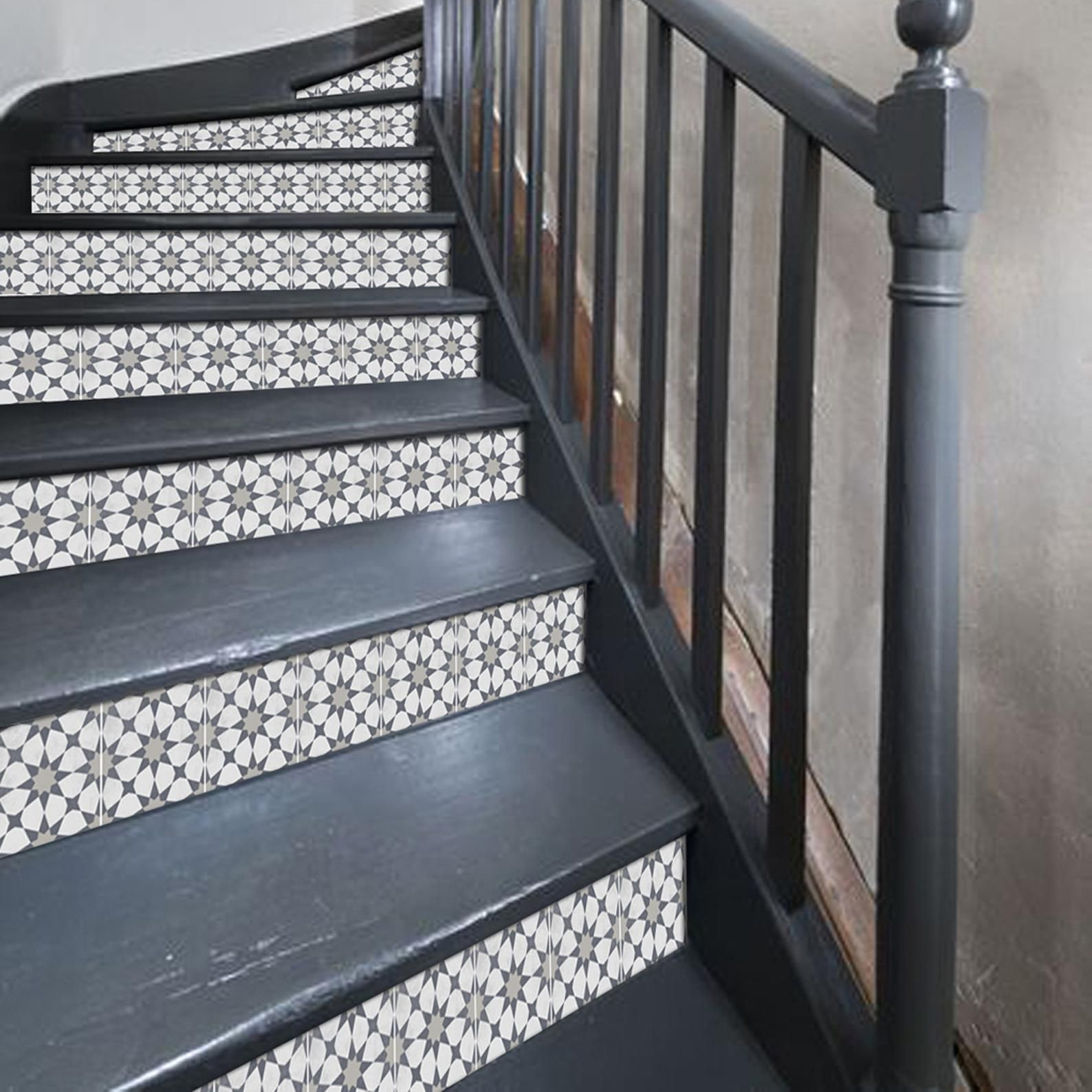 Best Stair Riser Stickers Removable Stair Riser Tile Decals 640 x 480