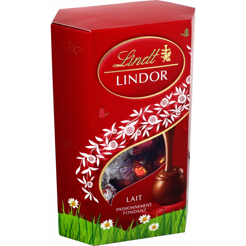 Chocolat chocolat au lait  LINDOR Lindt : la boite de 200 g  à Prix Carrefour