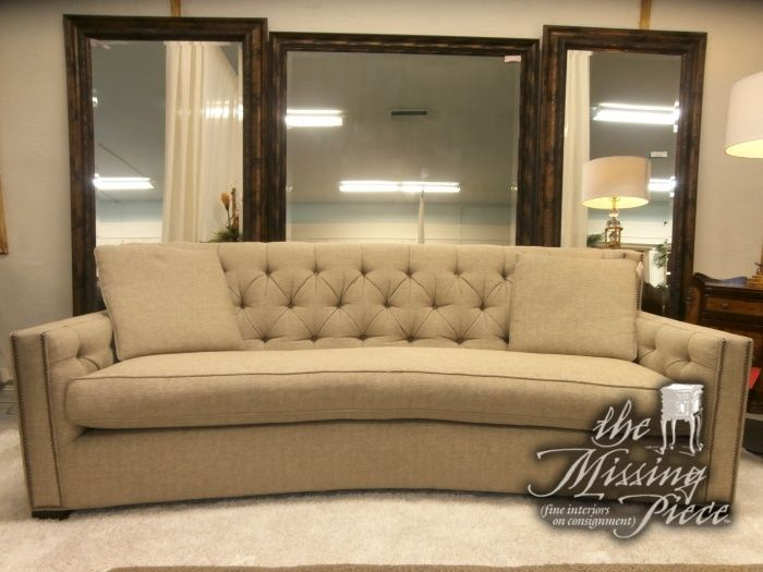 Gorgeous Single Cushion Sofa With Beautiful Curved Design Button