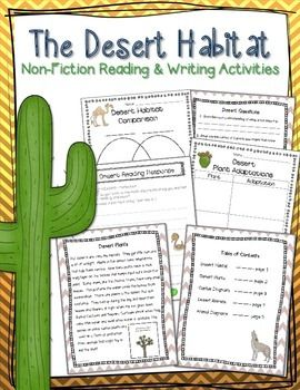 Desert Habitat Informational Unit | Teaching | Teacher notes ...