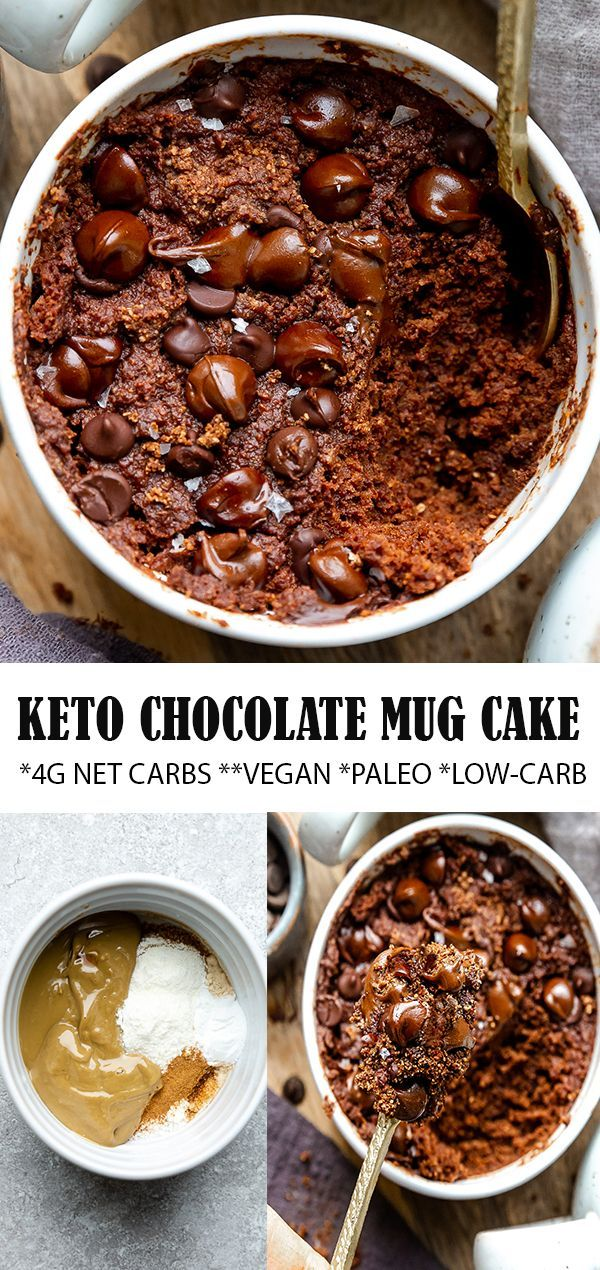 This healthy Keto Chocolate Mug Cake bakes up in the ...