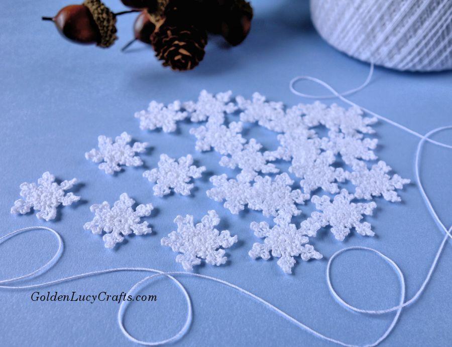Small Crochet Snowflake Free Crochet Pattern Crochet Snowflake Pattern Free Crochet Snowflake Patterns Crochet Snowflakes