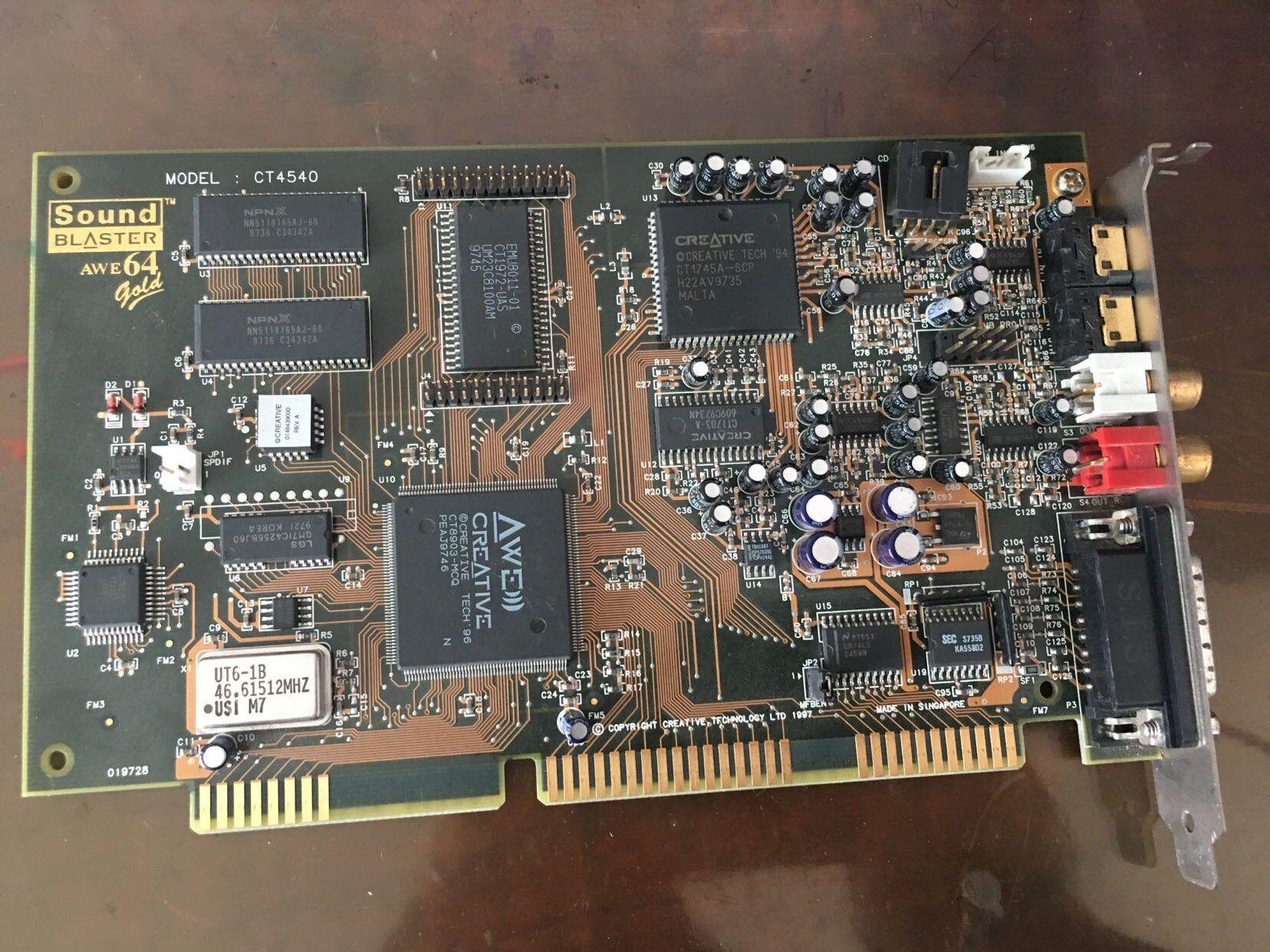 Creative Sound Blaster CT4540 AWE64 Gold Sound Card | Sound