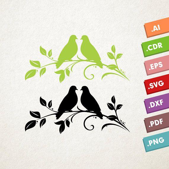 Download Lovebirds SVG Vector. Love birds SVG, Animals svg, Nature ...