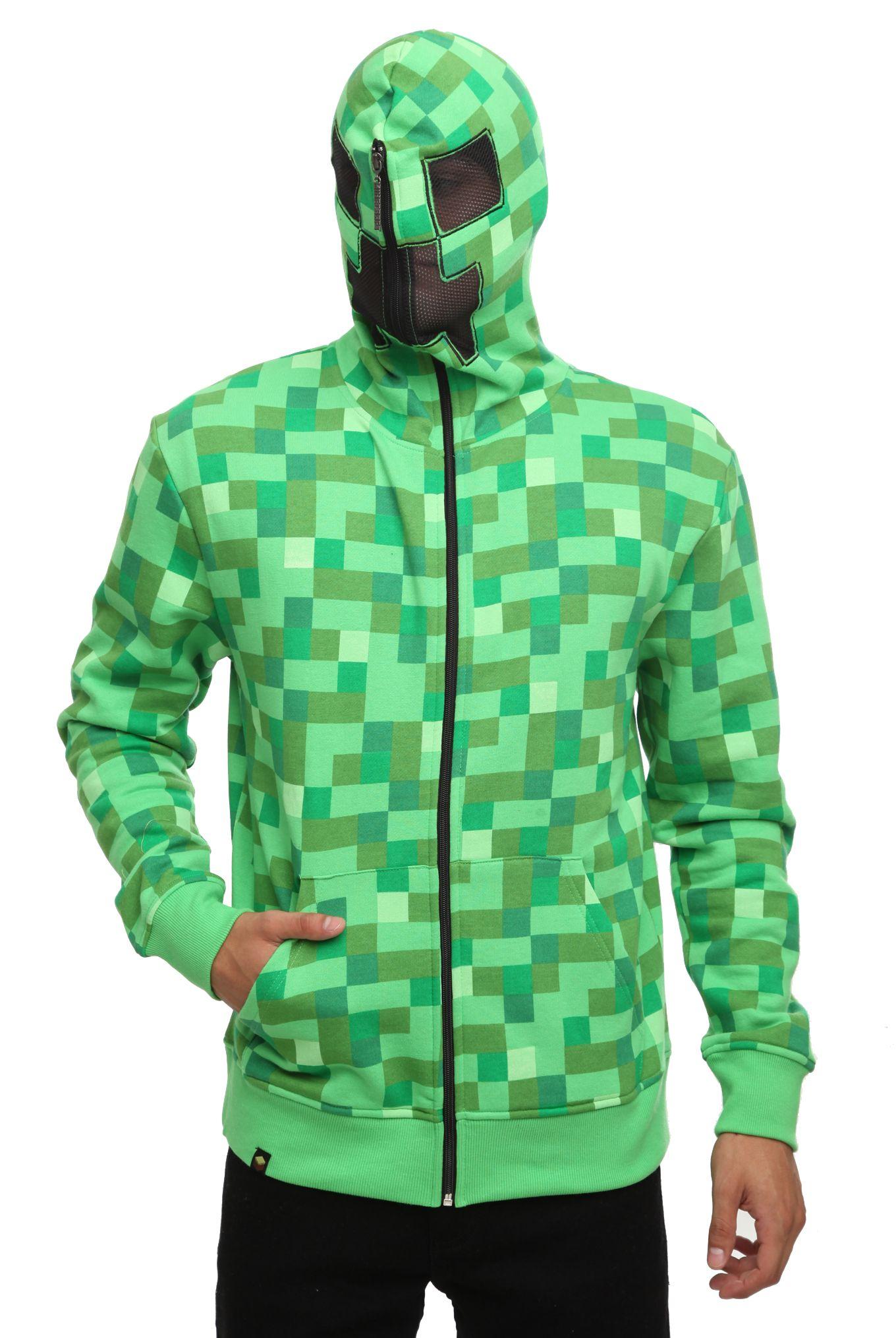 Jinx minecraft creeper costume hoodie creeper hoodie