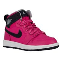 Jordan AJ 1 High - Girls' Preschool - Basketball - Shoes - Vivid Pink/