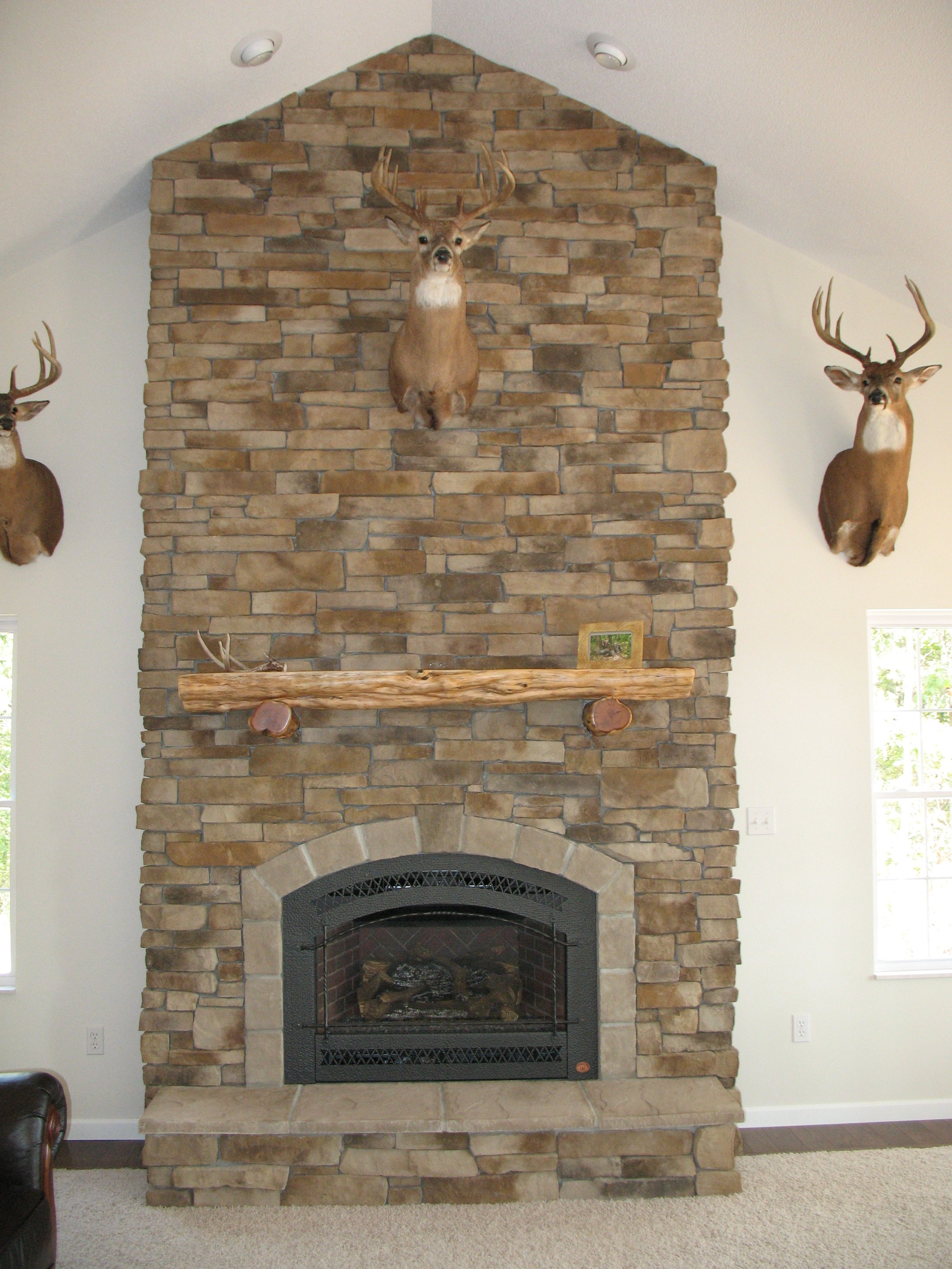 cultured stone fireplaces gallery photos - How To Stone Veneer Fireplace