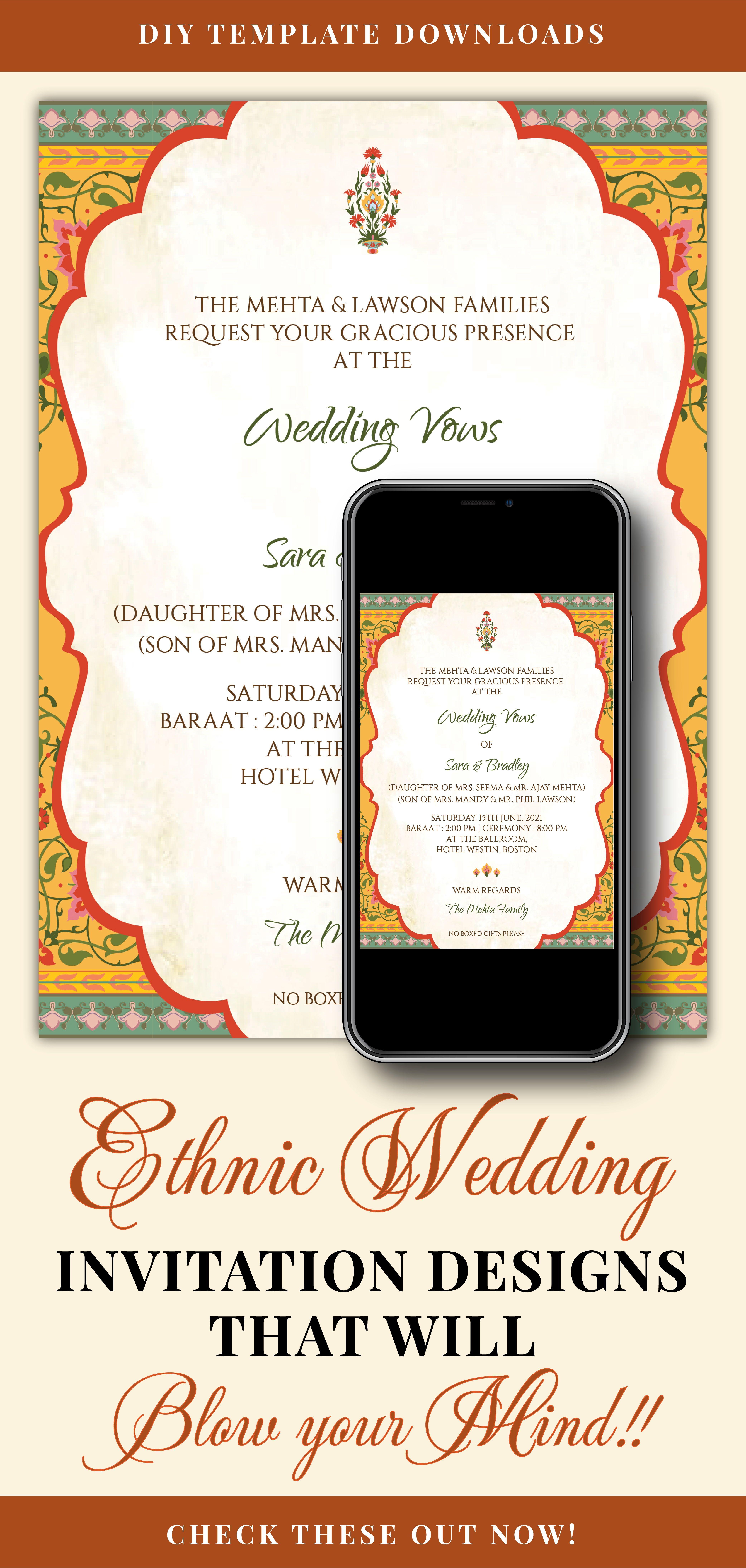 Moroccan Wedding Invitation Card With Bright Colors Gold Invitation For A Wedding Invitations Stationery Moroccan Wedding Invitations Wedding Invitations Diy