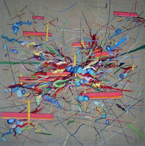 """Lisa Reichmann - Stickerei 3 - """"embroidery correlates to my process of image conception: it lets me find my inner peace and makes me able to concentrate on the essential."""""""