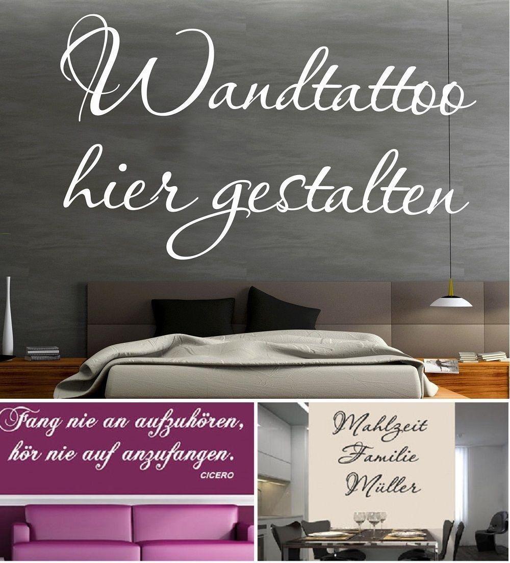 Wandtattoo selbst gestalten Wall Sticker Text Decals