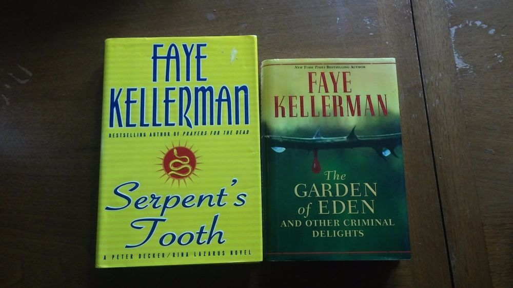 Faye Kellerman Books 2 Lot Hardcover Serpent\'s Tooth & The Garden Of ...