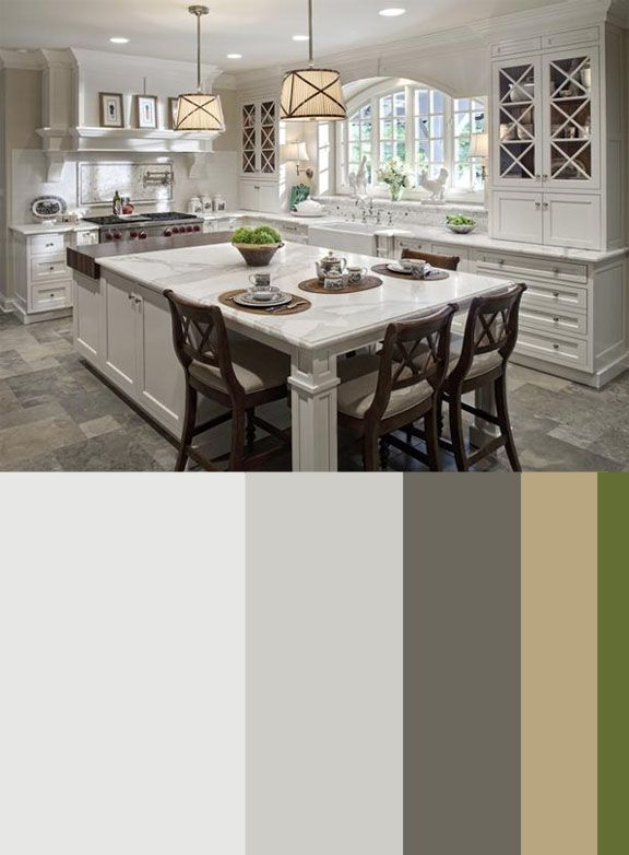 lovely colorful kitchen | Beautiful kitchen and color scheme - love the drum shades ...
