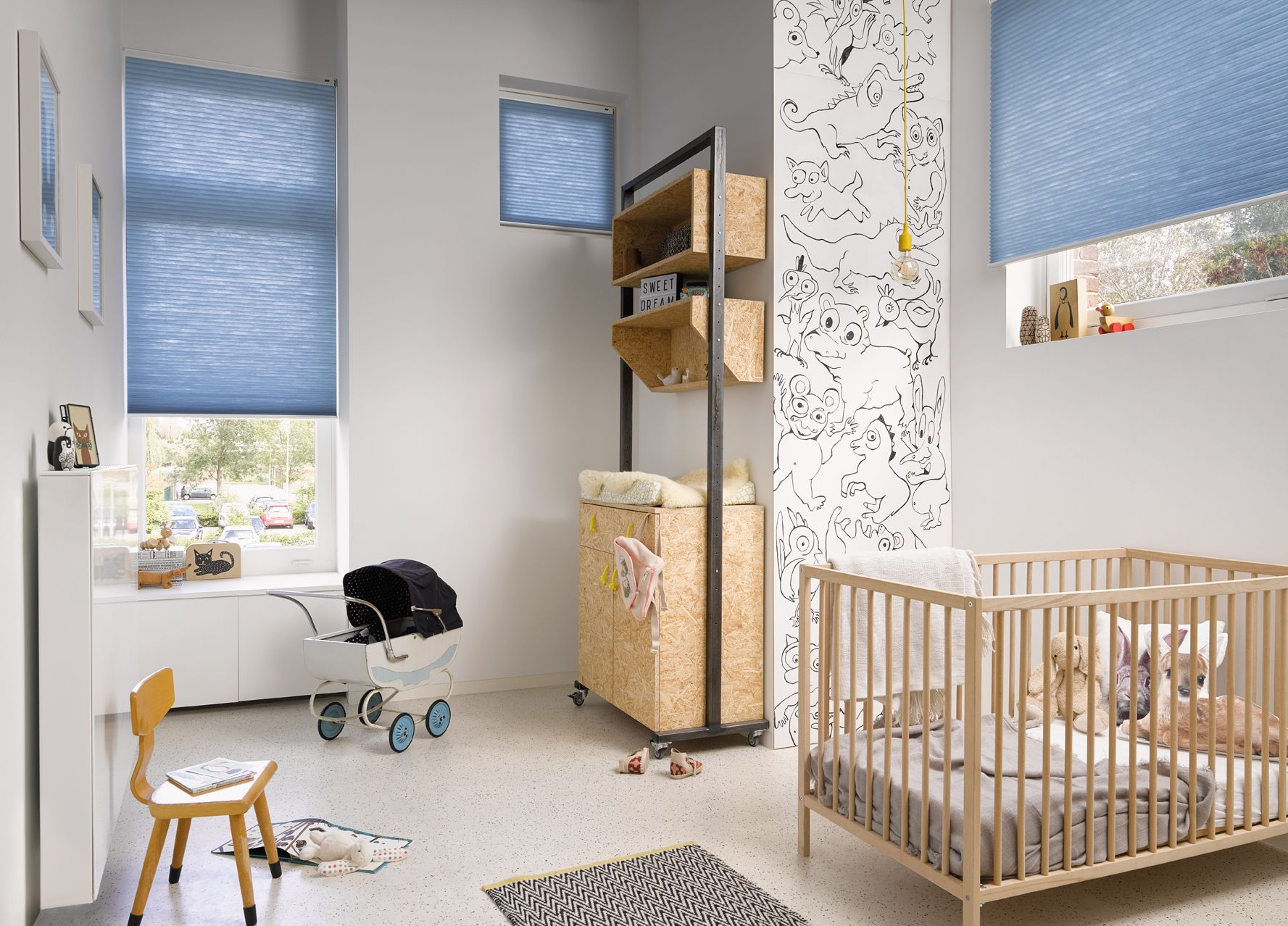 Nursery window ideas   reasons why duette blinds are the best blinds for childrenus