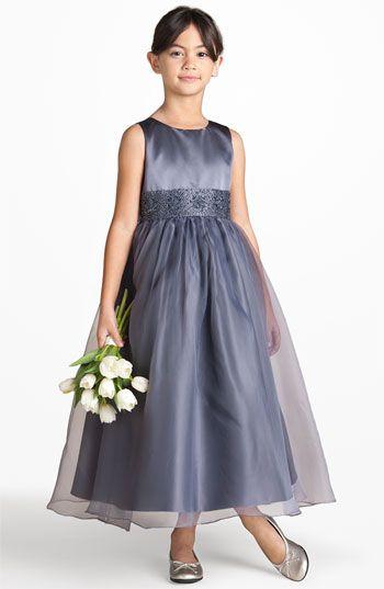 d1c73dea5a Flower girl dress  Us Angels Beaded Satin Sleeveless Dress (Little Girls    Big Girls)